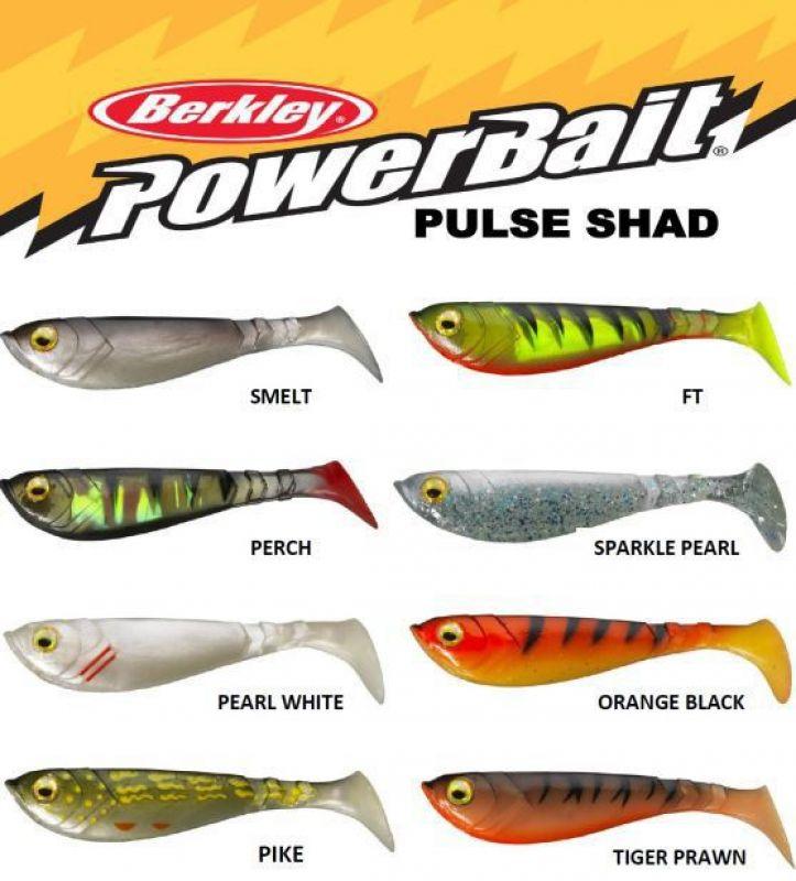 Hecht Zander Barsch Köder 6-14 cm Berkley Powerbait Pulse Shad Gummifisch