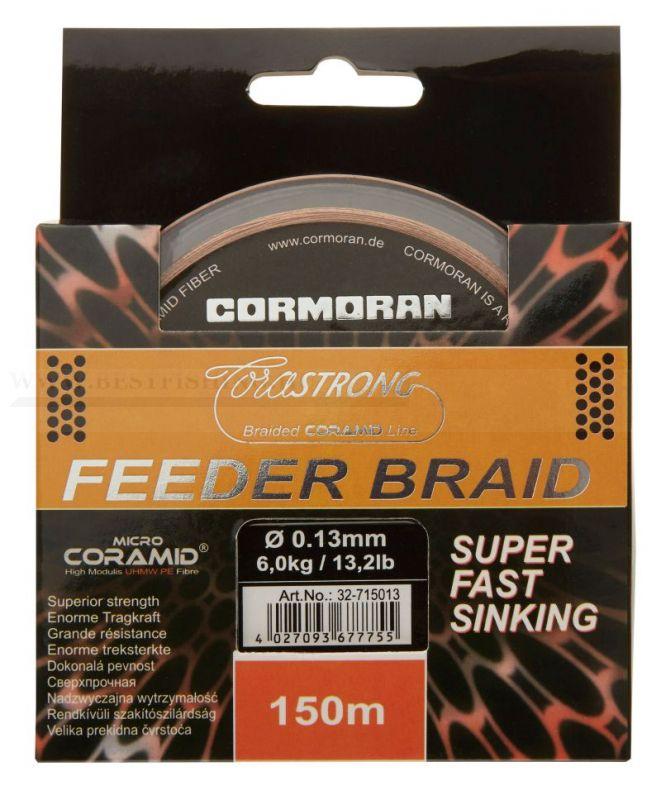 2016 CORMORAN ZSINÓR CORASTRONG FEEDER BRAID SUPER FAST SINKING 0,13 MM 150M FONOTT ZSINÓROK