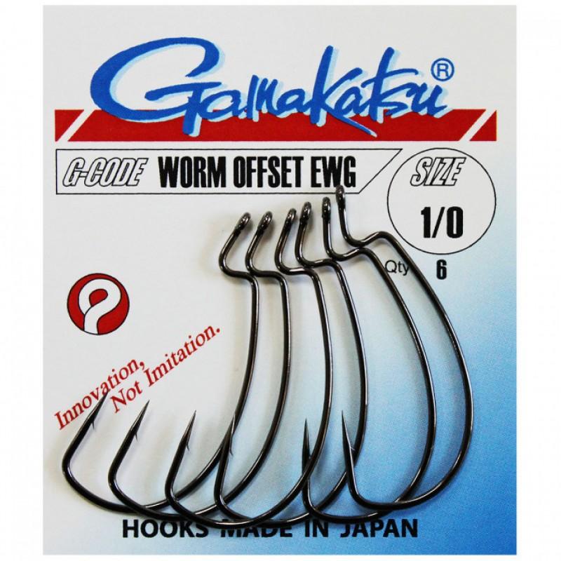 GAMAKATSU Worm Offset  4/0   5/cs. DROP SHOT HOROG