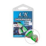 L&K CHEBURASHKA FISH HEAD 6G-JIG HEAD