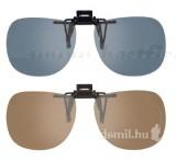 Bertoni polarizált Clip on szemüveg, szürke
