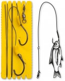 BLACK CAT BOUY AND BOAT GHOST SINGLE HOOK RIG L 100KG 1PCS 1,40M 6/0-INAINTAS SOMN