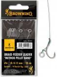 BROWNING BRAID LEADER CARLIG FEEDER 4 0,12MM-CARLIG FEEDER