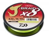 DAIWA J-BRAID GRAND X8E 0,24MM-135M CHARTREUSE