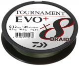 DAIWA TOURNAMENT X8 BRAID EVO+ 0,08MM 270M SÖTÉT ZÖLD