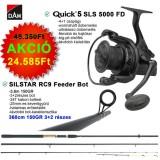 PÁROS AKCIÓ DAM QUICK 5 SLS 5000 FD + SILSTAR RC9 FEEDER 150gr 3,6m 3+2 tag.