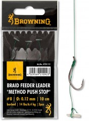 BROWNING BRAID FEEDER LEADER CARLIG FEEDER 6 0,12MM-CARLIG FEEDER