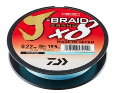 DAIWA J-BRAID GRAND X8E 0,06MM-135M KÉK FONOTT ZSINÓROK