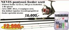 Nevis pontyozó feeder szett 1232-360+ 2242-440+ 8100-017 (KB-441)-PONTYOZÓ SZETT AKCIÓS SZETTEK